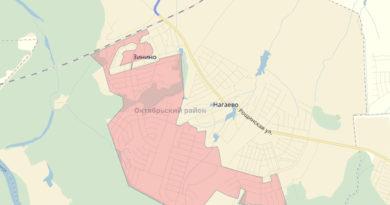 Карта зон ответственности поселок Нагаево, Уфа
