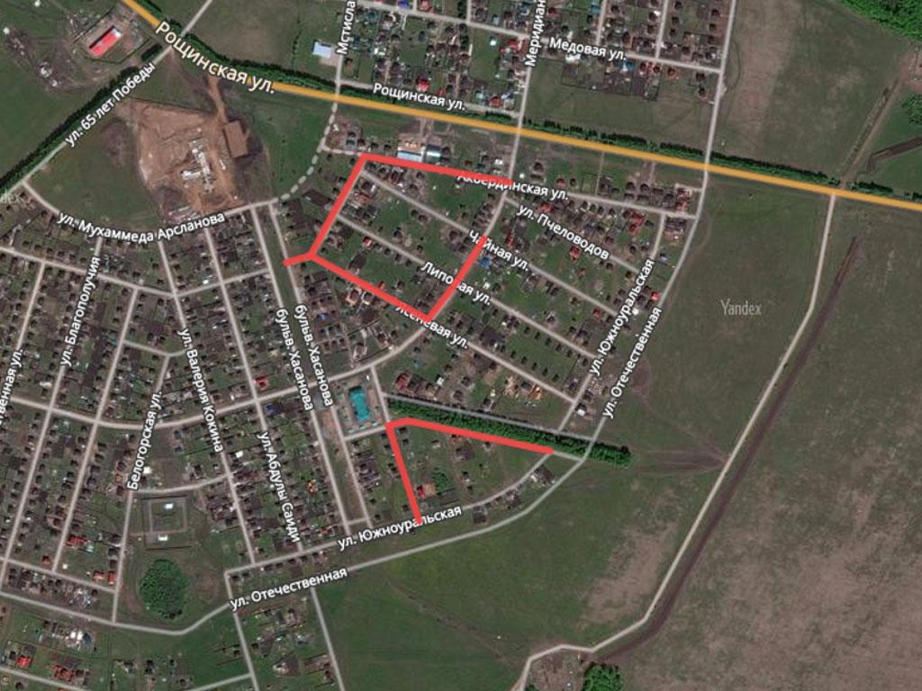 Карта ремонта дорог в Нагаево