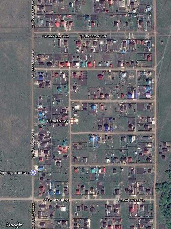 Уфа, Нагаево, 23, 24, 25, 26 квартал - карта