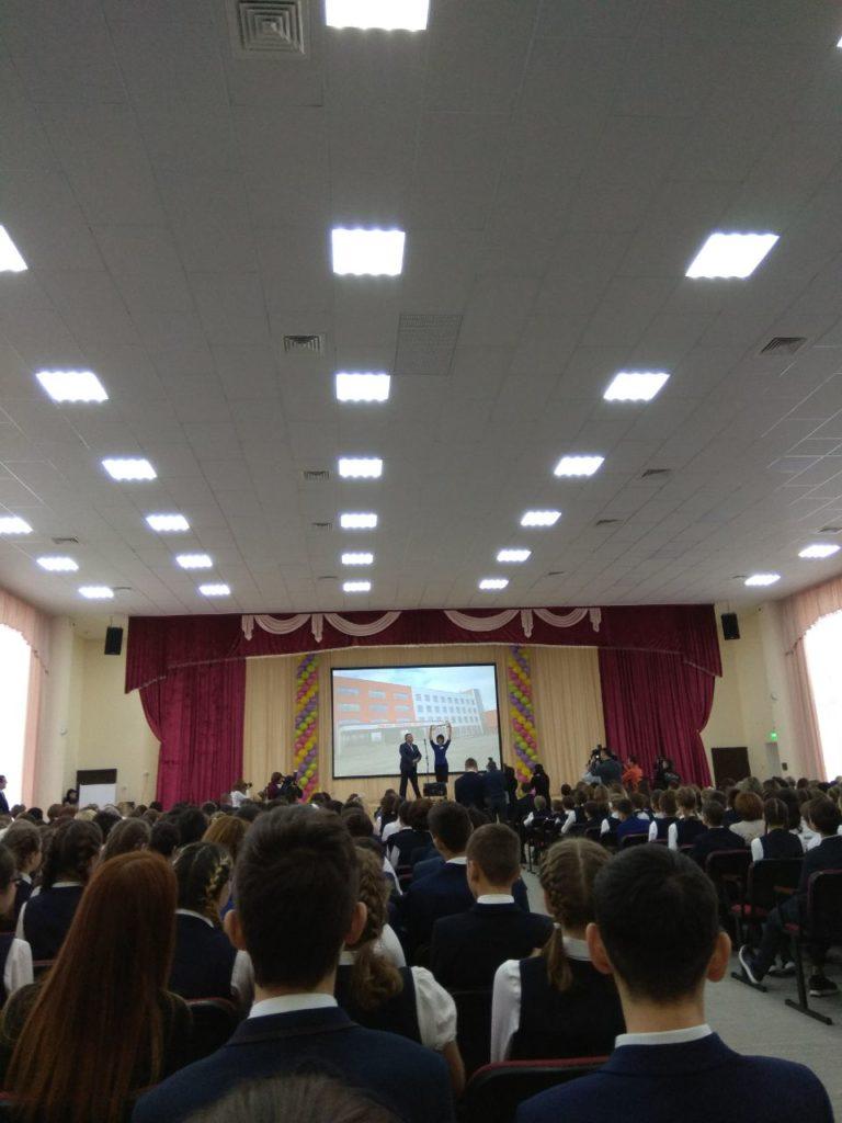 Передача ключа от школы в Нагаево
