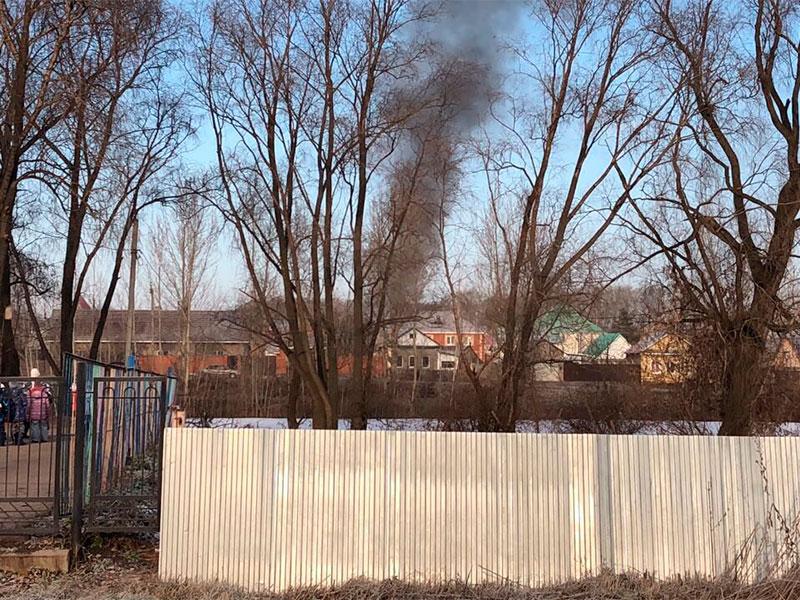 Пожар в Нагаево улица Заборская