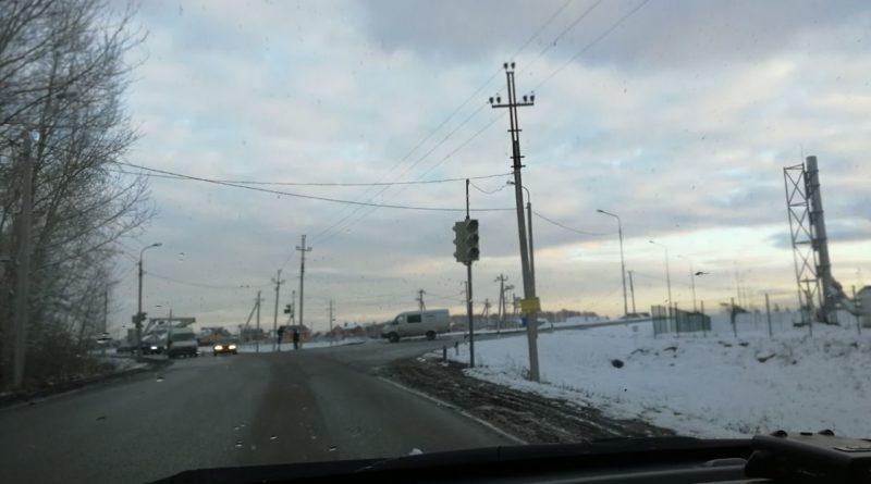 Новый светофор в Нагаево у школы