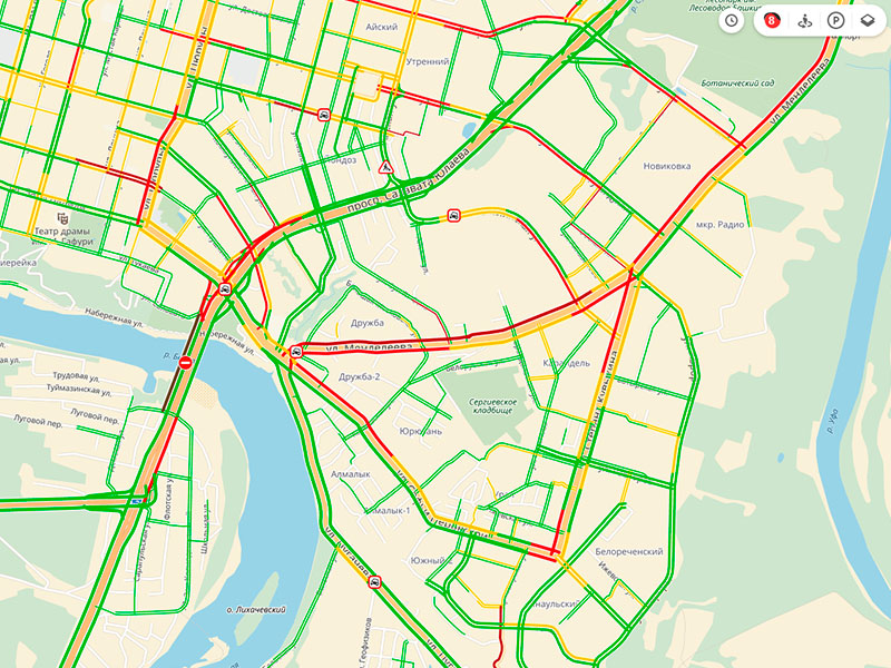 Транспортный коллапс в Уфе