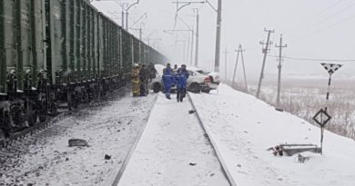Авария на жд переезде в Зинино
