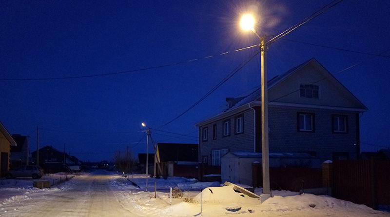 Освещение улицы Льва Лебединского