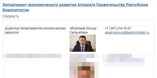Департамент экономического развития Аппарата Правительства Республики Башкортостан