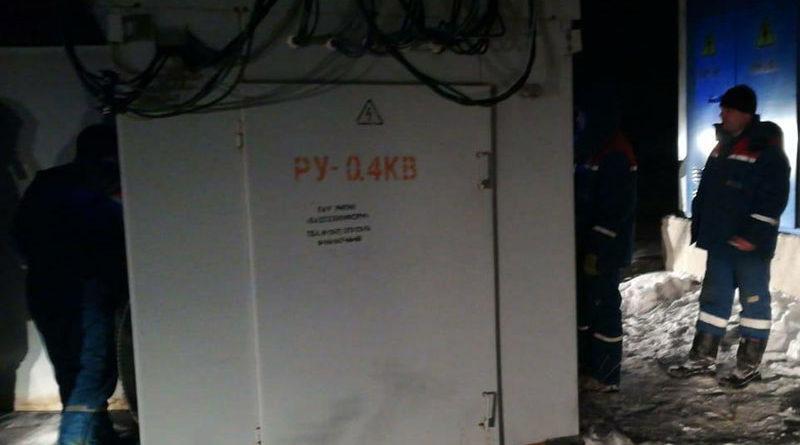 Аварийное отключение электричества в Нагаево